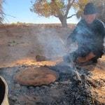 Berber man cooking Berber pizza Saf Saf Oasis Morocco_Source NOSADE