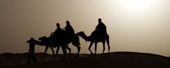 Camel Caravan Sahara desert Morocco_Source iStock