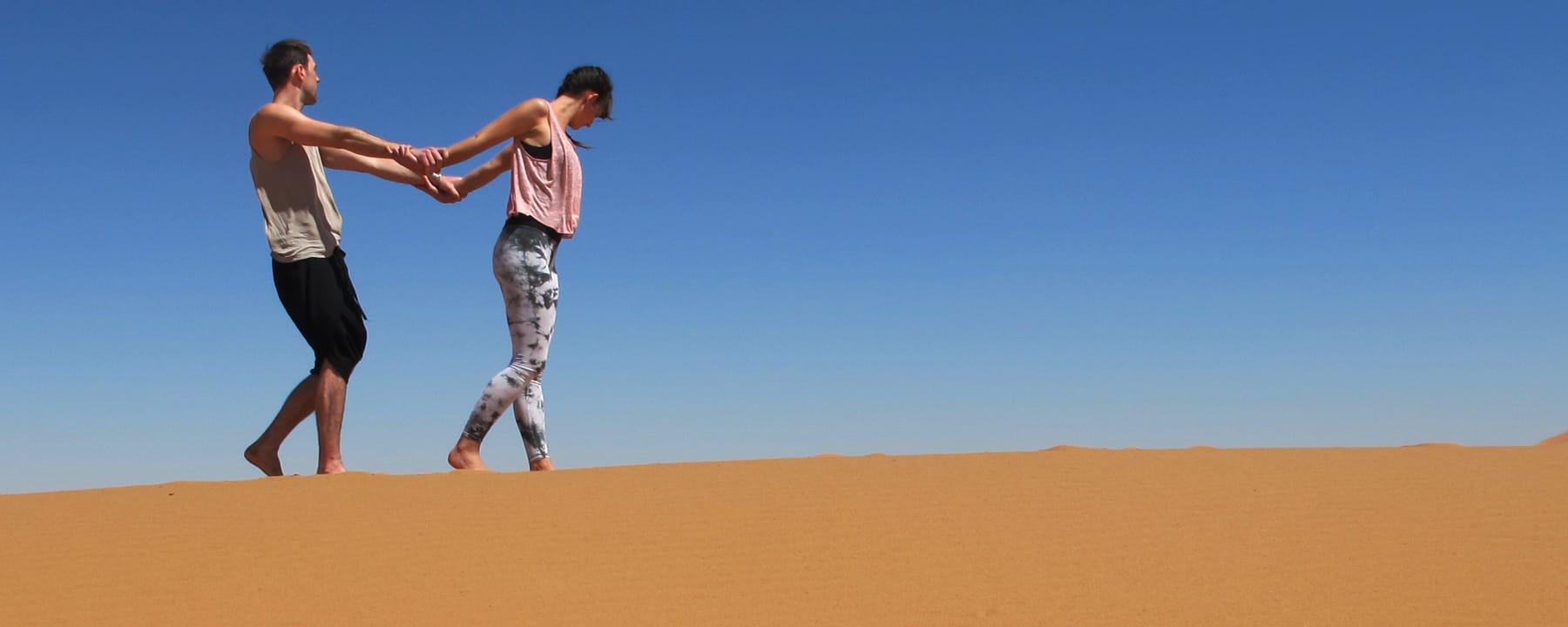 Dancing Yoga Sahara Desert Morocco