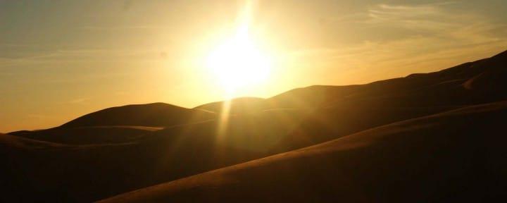 Desert Sunset Sahara desert Morocco_Source NOSADE