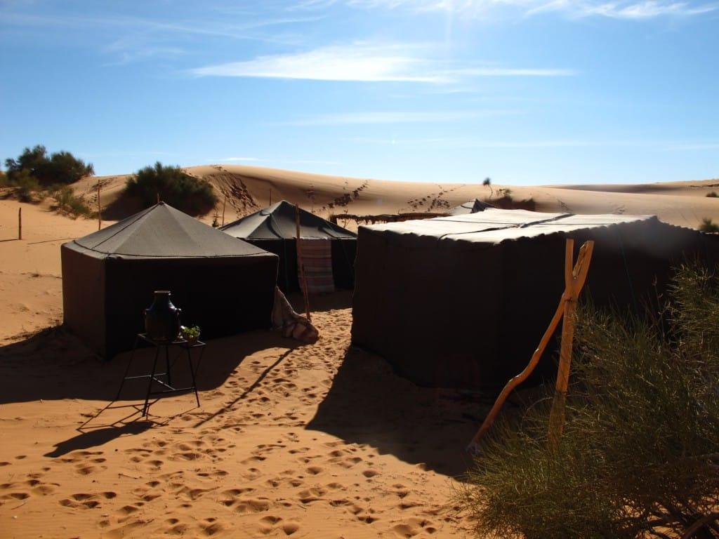 Desert camp Erg Chebbi Sahara typical Berber tent_Source NOSADE