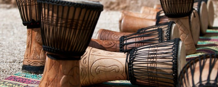 Djembe Moroccan drums African music_Source iStock amite