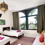 Emerald twin room Villa Mandala_Source Surf Maroc