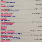 Entry form Morocco Einreiseformular Marokko_Source NOSADE