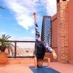 Headstand Rooftop Marrakech_Source Amanda LaMagna Livaligned