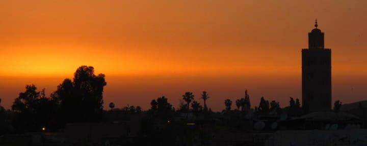 Koutoubia Mosque Marrakech sunset_Source NOSADE