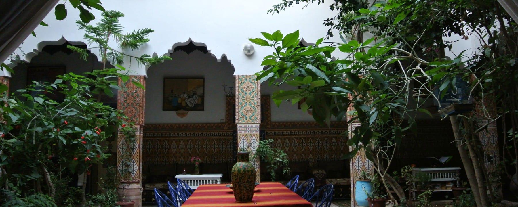 Morocco Riad Traditional Moroccan house with garden_Source NOSADE