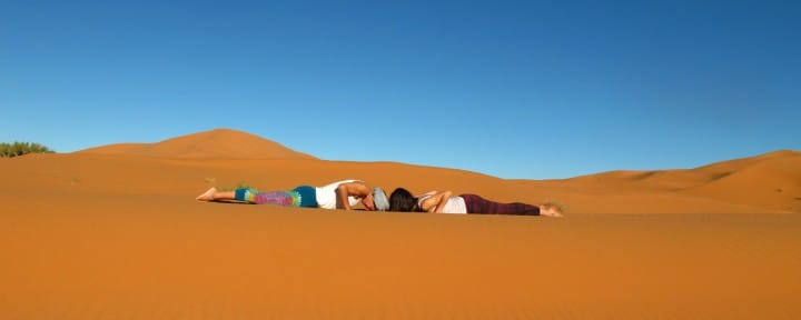 Sahara desert yoga Cobra pose_Source NOSADE