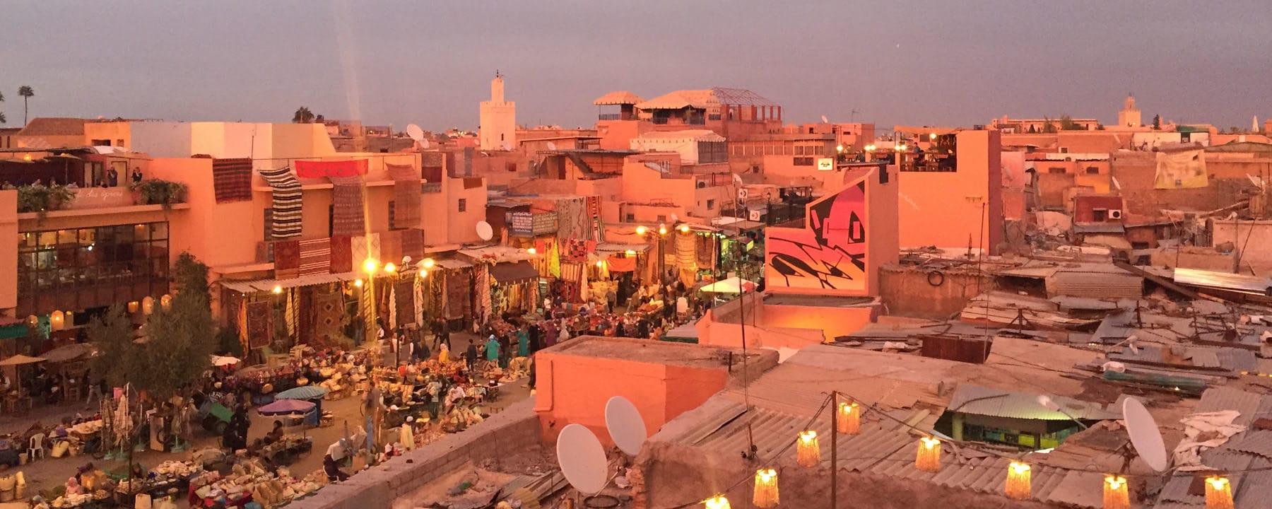 Yoga Retreat Marrakech sunset_Source NOSADE